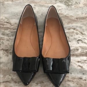 J Crew patent leather flats, size 8